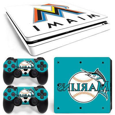 miami marlins skin sticker for playstation 4