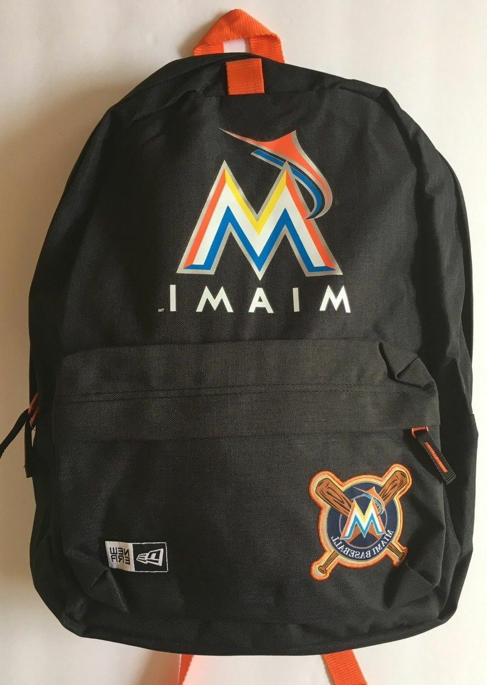 MIAMI MARLINS STADIUM BACKPACK MLB PATCH LAPTOP COMPARTMENT