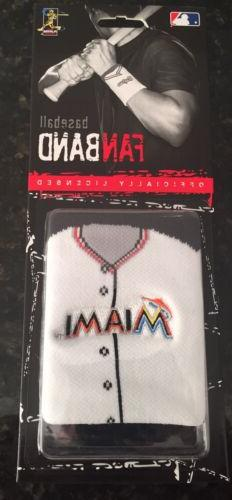Miami Marlins Team Embroidered Logo Jersey Wristband FanBand