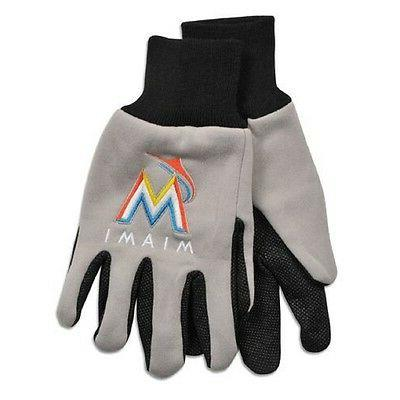 miami marlins two tone adult size gloves