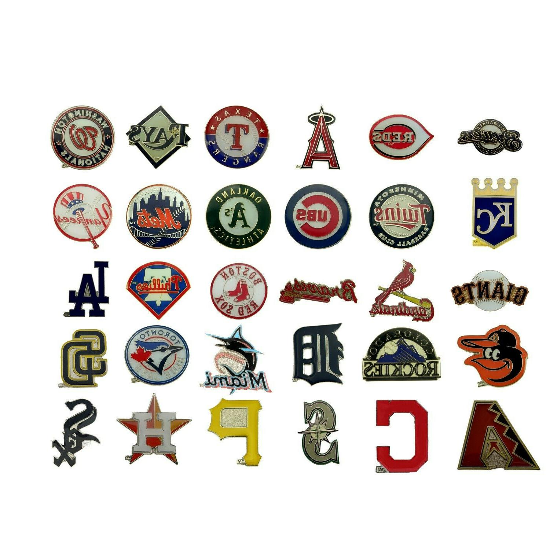 mlb baseball official team logo lapel pin