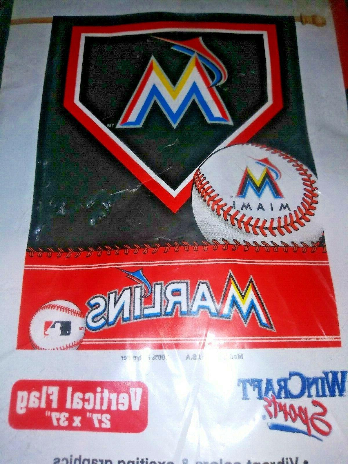 mlb miami florida marlins baseball vertical flag