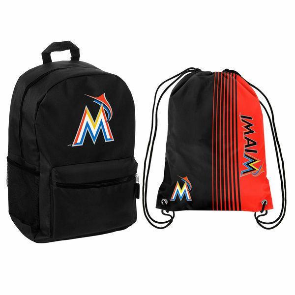 mlb miami marlins backpack or drawstring bag