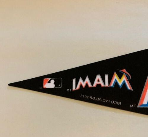 "MLB Miami Marlins Baseball Mini Pennant 4""x9"" Banner Felt Rico *NEW*"