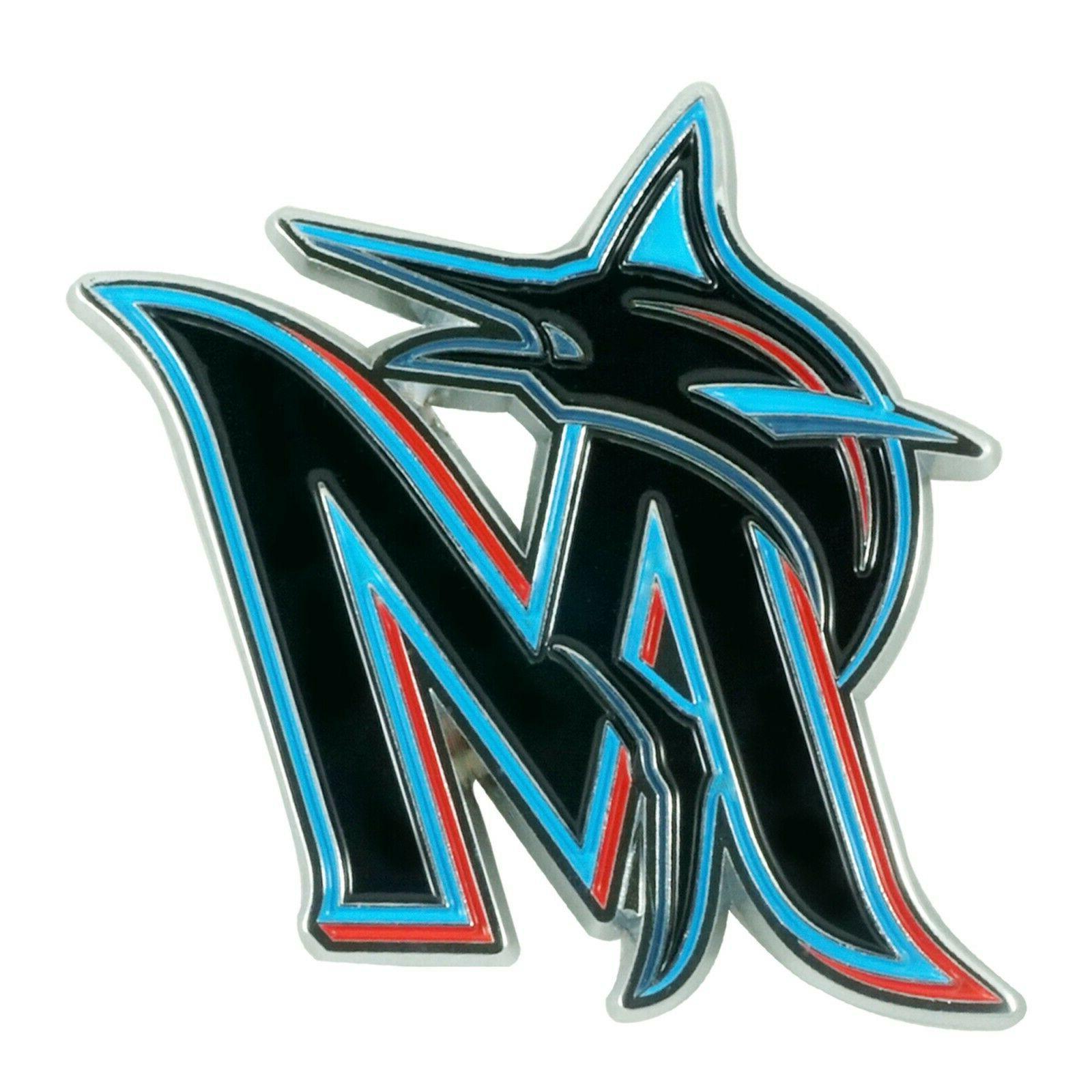 mlb miami marlins diecast 3d color emblem