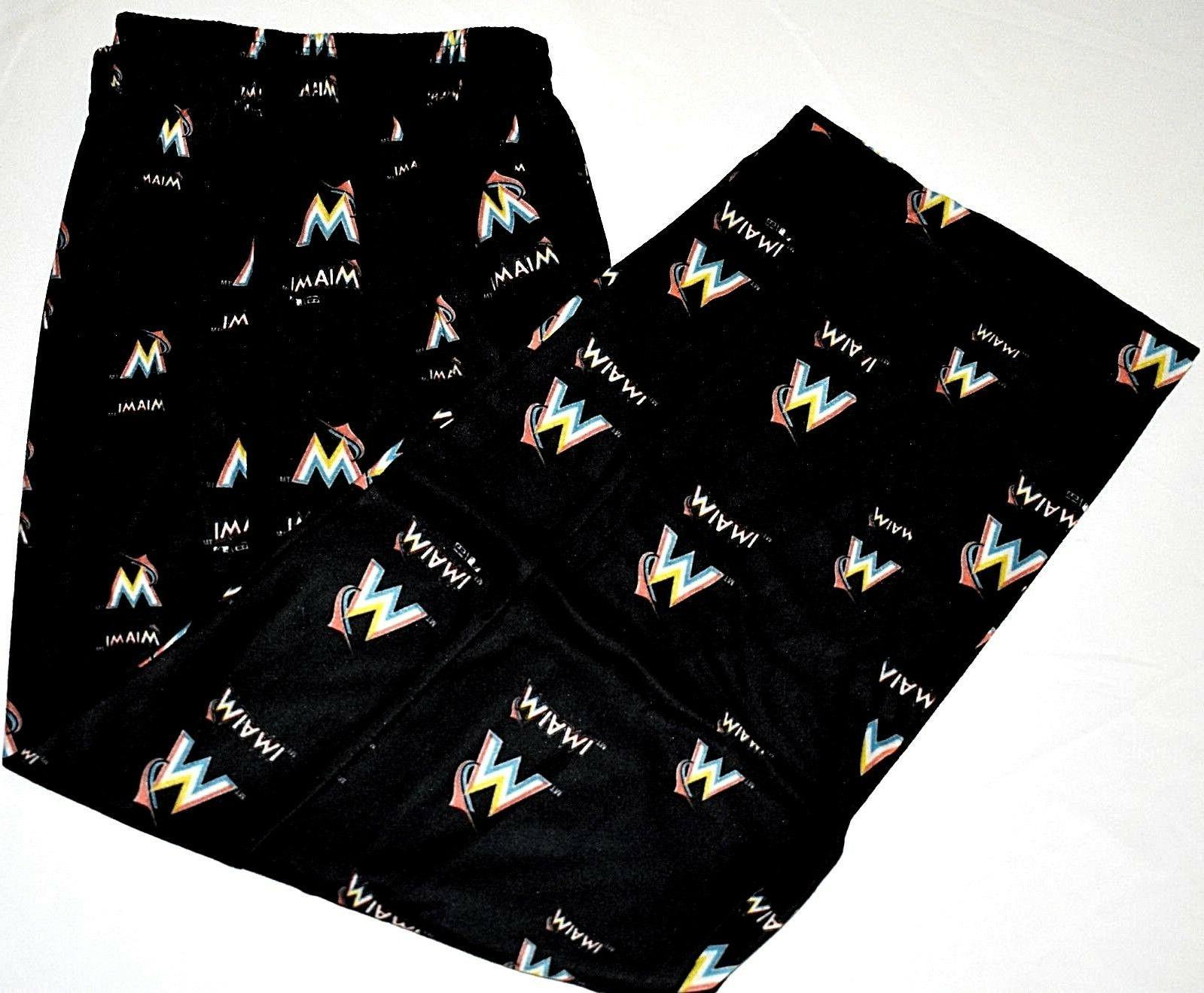 mlb miami marlins sleepwear print pant small