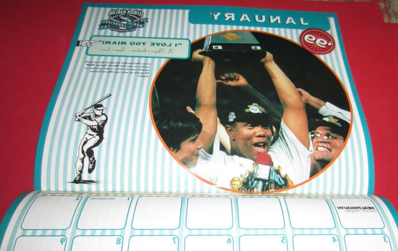 NEW-FLORIDA MIAMI MARLINS CALENDAR-1997 WORLD SERIES MEMORABLE PHOTOS
