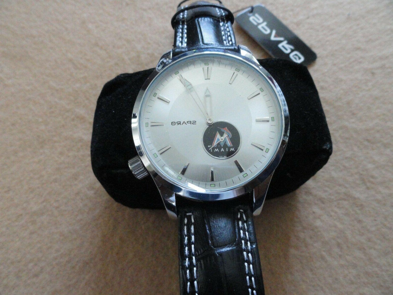 new miami marlins men s quartz watch