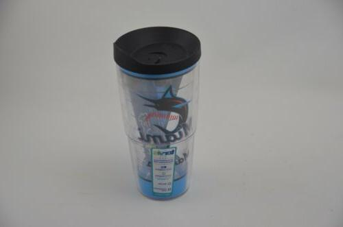 new miami marlins travel tumbler 24 ounce