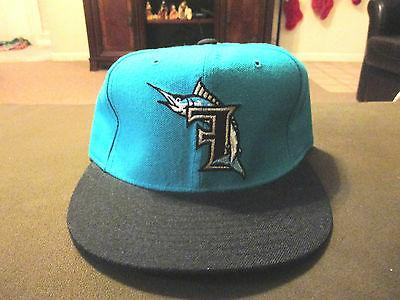new vintage florida marlins fitted hat size