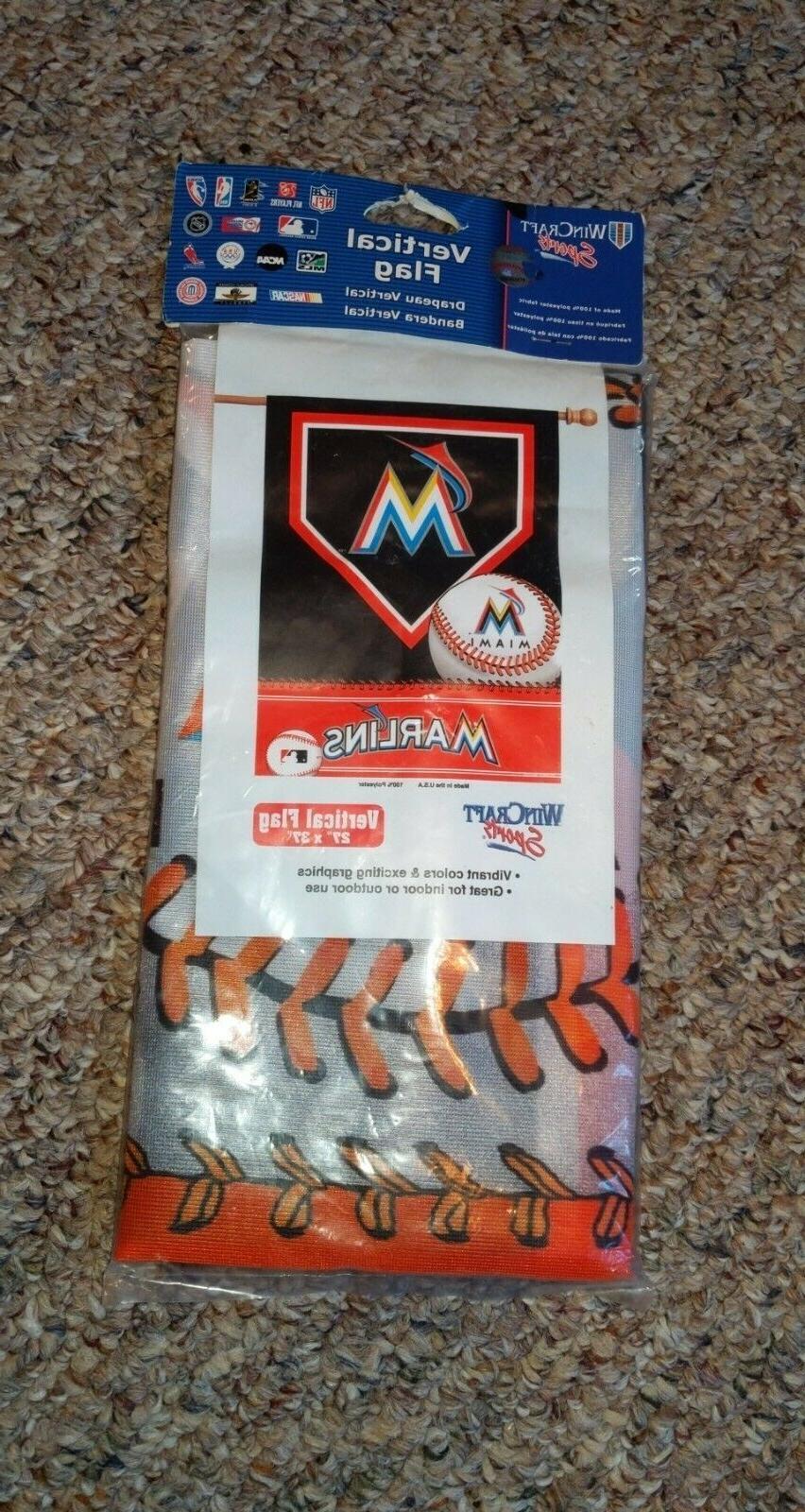 sports mlb miami marlins baseball vertical flag