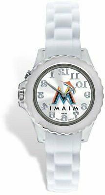 "Game Time Youth MLB-FLW-MIA ""Flash White"" Miami Marlins Watc"