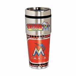 Marlins Travel Tumbler 16oz Stainless Steel mug Plastic Inse