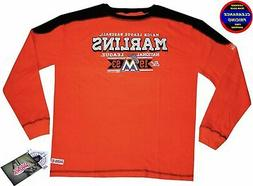 Mens MLB Apparel * Miami Marlins Mens MLB Crewneck Thermal T