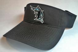 Miami Florida MARLINS Twill Visor NEW MLB Black Cap One Size