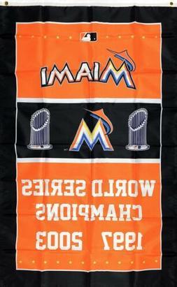 Miami Florida Marlins World Series Championship Flag 3x5 ft