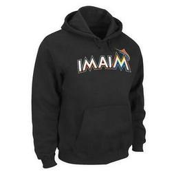 Miami Marlin Fleece Hoodie Majestic Hooded Sweatshirt