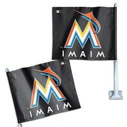"Miami Marlins WinCraft 11"" x 13"" Double-Sided Car Flag"