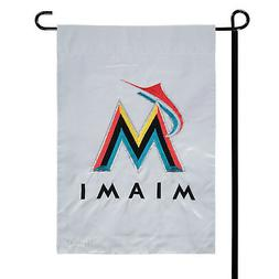 "Miami Marlins 12 1/2"" x 18"" Applique and Embroidered 2-Sided"