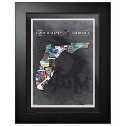 miami marlins 12x16 state of mind framed
