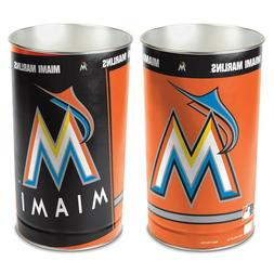 "MIAMI MARLINS 15""X10.5"" TRASH CAN WASTEBASKET NEW WINCRAFT"