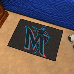 """Miami Marlins 19"""" X 30"""" Starter Area Rug Floor Mat"""