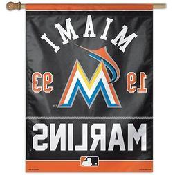 "MIAMI MARLINS 1993 27""X37"" BANNER FLAG BRAND NEW FREE SHIPPI"
