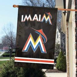 """Miami Marlins 2 Sided 44"""" x 28"""" Applique & Banner, Flag"""
