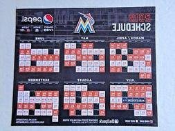 MIAMI MARLINS - 2018 SCHEDULE MAGNET OPENING DAY SGA SOUVENI