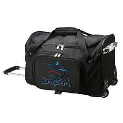 "Miami Marlins 22"" 2-Wheeled Duffel Bag - Black"