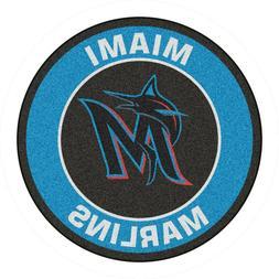 "Miami Marlins 27"" Roundel Area Rug Floor Mat"