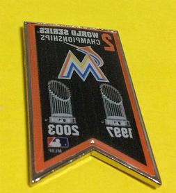 MIAMI MARLINS 2X MLB WORLD SERIES CHAMPIONS COLLECTOR BANNER