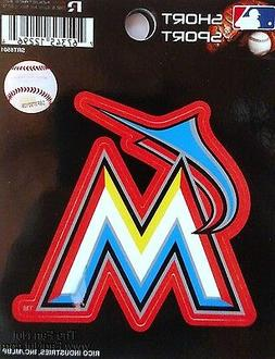 "Miami Marlins 3"" Flat Vinyl Sport Die Cut Decal Bumper Stick"