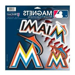 Miami Marlins WinCraft 3-Pack Car Magnets