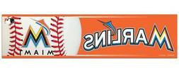 Miami Marlins 3 x 12 Inch Bumper Sticker  MLB Strip Car Truc
