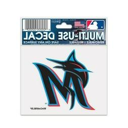 """MIAMI MARLINS 3""""X4"""" MULTI-USE DECAL PERFECT FOR CAR WINDOWS"""