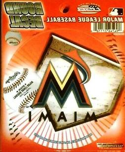 "Miami Marlins 4"" Round Decal Bumper Sticker Emblem Baseball"