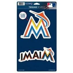 "Miami Marlins WinCraft 5"" x 9"" 2-Pack Car Magnet"