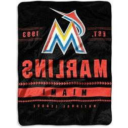 "Miami Marlins The Northwest Company 60"" x 80"" Backstop Silk"