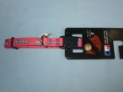 "MIAMI MARLINS  9"" - 14"" long DOG/PET COLLAR  size Small 5/8"""