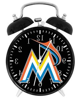 MIAMI MARLINS Alarm Desk Clock Home or Office Decor F85 Nice