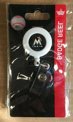 miami marlins badge holder reel new 30