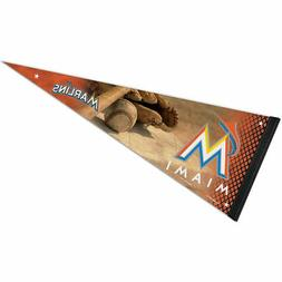 Miami Marlins Ball and Bat MLB Premium Pennant