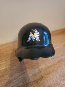miami marlins baseball replica mini helmet on