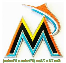 Miami Marlins Baseball Sport Embroidery Patch logo iron,sewi