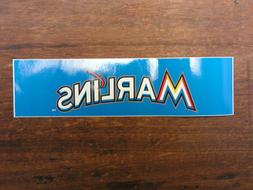 Miami Marlins Baseball Sticker ~NEW! Bumper Sticker Decal~