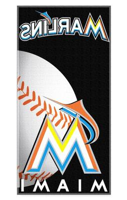 MIAMI MARLINS BEACH TOWEL MLB BASEBAL TEAM LOGO POOL BATH TO
