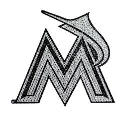 "Miami Marlins Bling Auto Emblem 6.25"" x 6.25"""
