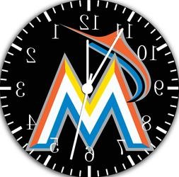 MIAMI MARLINS Frameless Borderless Wall Clock Nice For Gifts