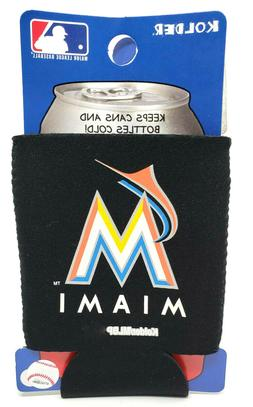 miami marlins can cooler collapsible bottle holder